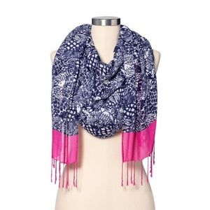 New Lilly Pulitzer for Target Upstream Scarf, Blue
